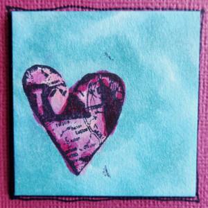 single small heart close-up