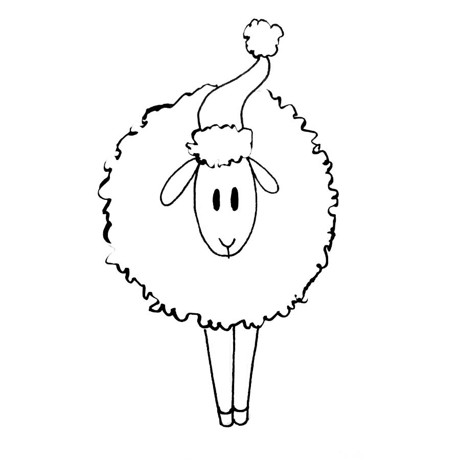 kmh-santa-sheep-stamp